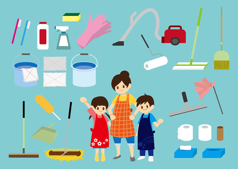 Cleaning tools and family