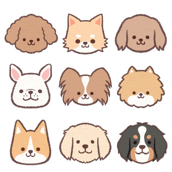 Icon dog collection