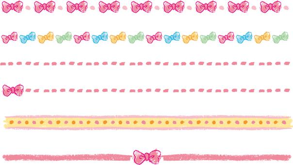 Crayon's ribbon line