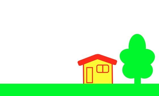 숲에 자리 잡은 집