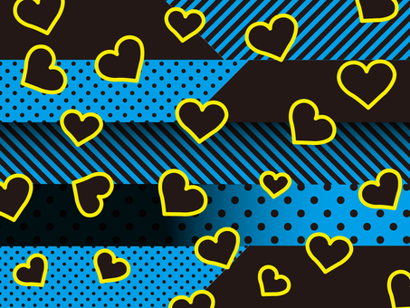 Heart pattern background blue