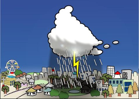 Guerrilla rainstorm approach!