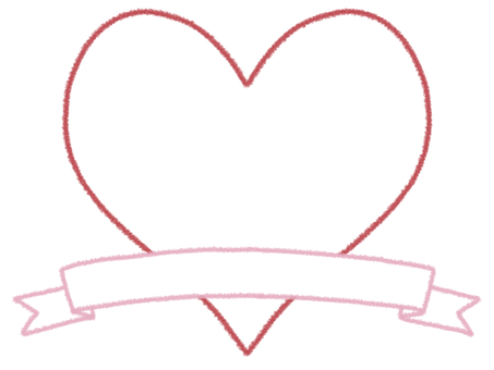 Heart and ribbon frame