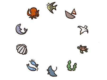 바다 생물 프레임