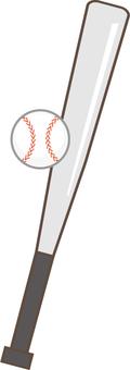 Metal bat and ball