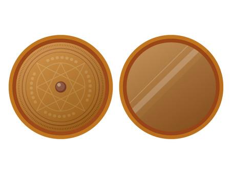 Bronze mirror (gold)