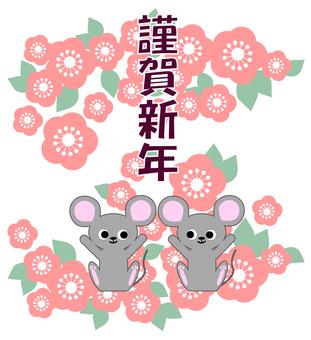 2 마리의 쥐와 매화