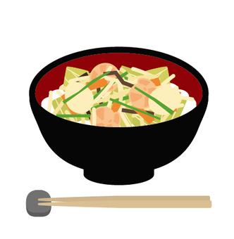 Don bowl of rice bowl