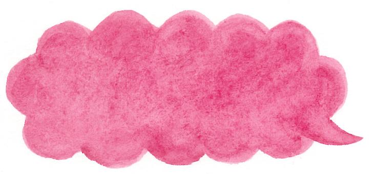 Watercolor Mushrooms balloon pink