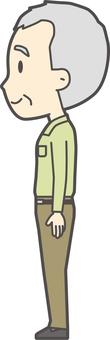 Old man polo shirt green-389-whole body