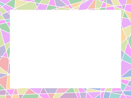 Mosaic pattern frame