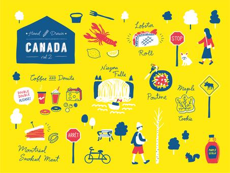 手寫的加拿大東海岸城市,風景,食物