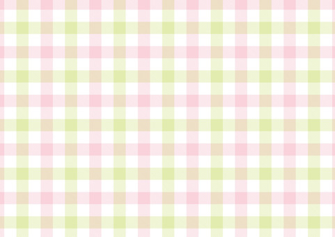 Gingham <pastel peach × yellow green>