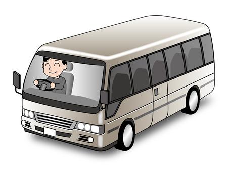 Illustration of a mini bus