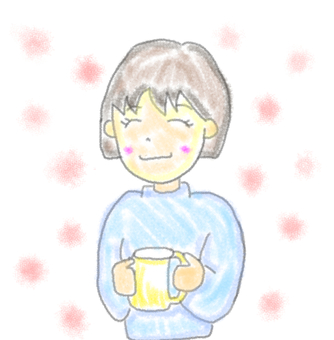 A woman drinking coffee