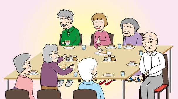 Old elderly elderly person