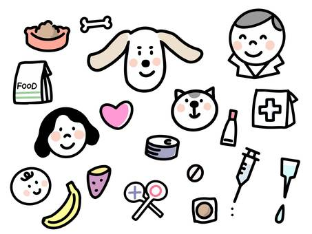 Collection of materials related to pets