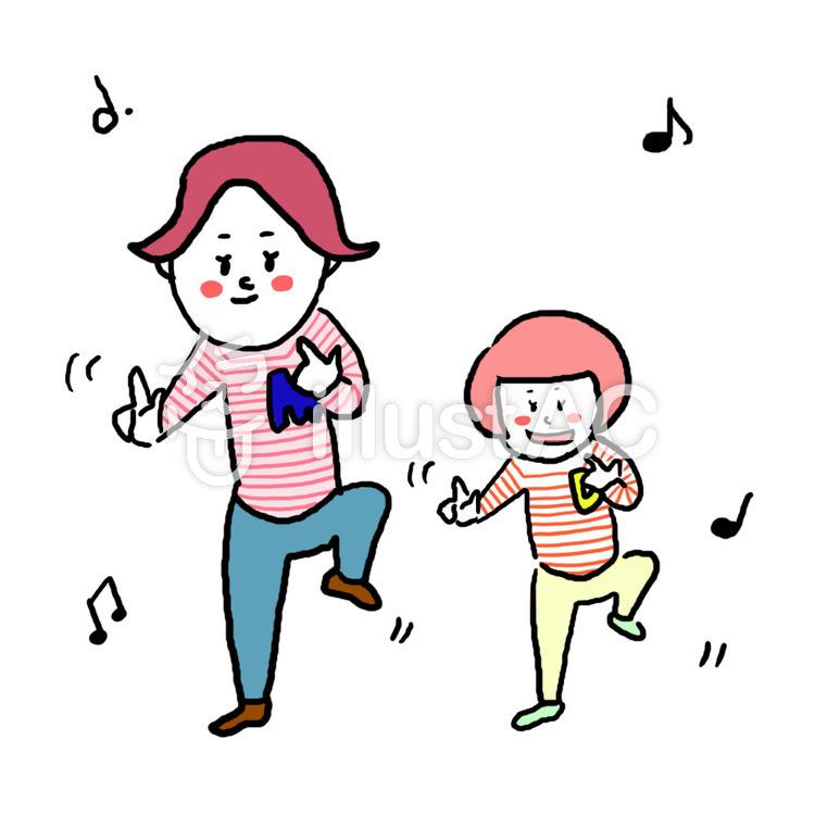 親子ダンス1イラスト No 711238無料イラストならイラストac