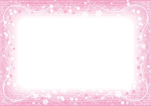 Sakura's glitter frame