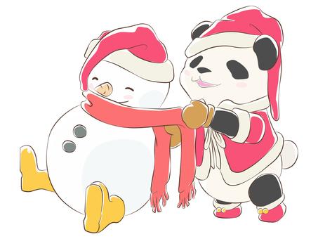 動物-パンダ・クリスマス パス版