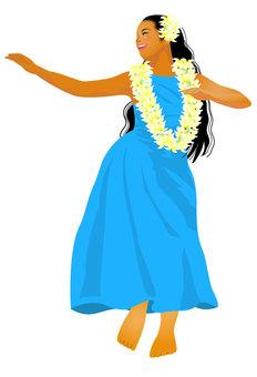 Hula Dance Hula Girl 022