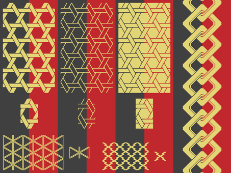 Pattern - Japanese Pattern - Bamboo Set