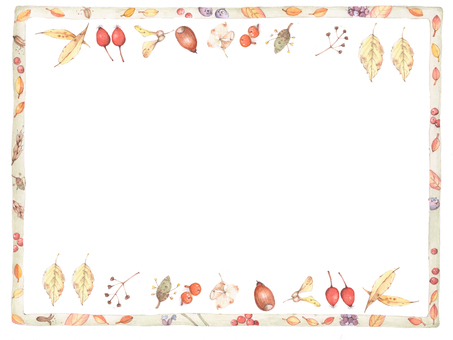 Flower frame 246 - autumn flower frame frame