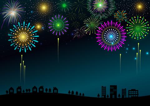 Fireworks Night Sky #1
