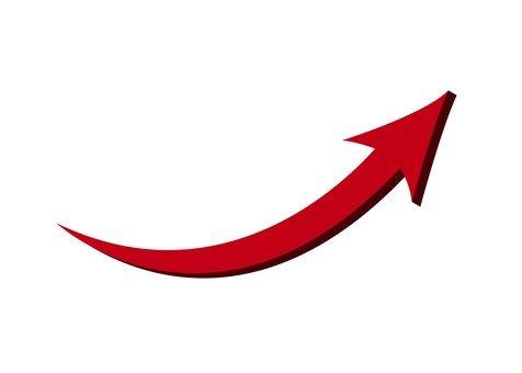 上矢印(赤)