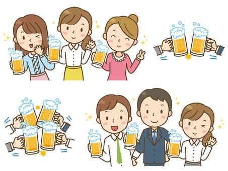 飲み会/女子会/乾杯/まとめ/セット