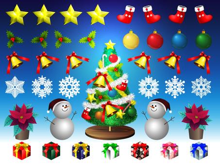 Christmas material set No 1