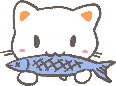 A cat that eats fish