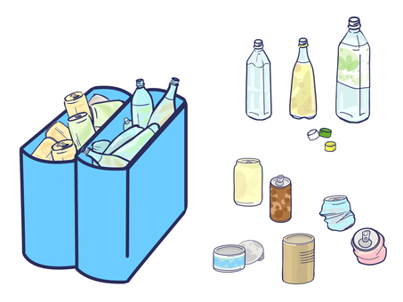Waste collection Cans and PET bottles