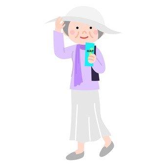 Sightseeing senior women