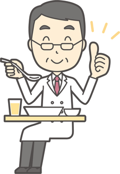 Middle-aged male physician -029-full body