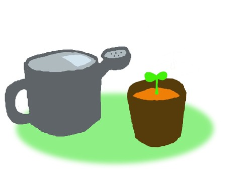 Watering pot and flowerpot