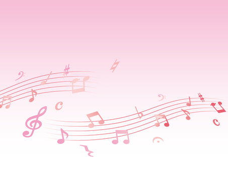 Music background material pink ver
