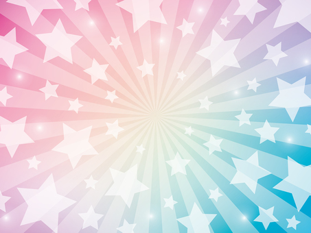 Rainbow colored radiation background with star pattern