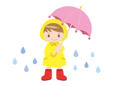 女の子_雨