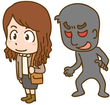 Illustration of molesting crime