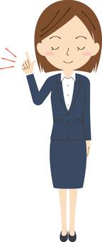 女性生意閉上眼睛1
