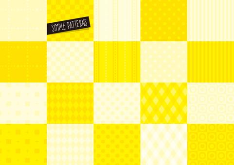 Simple pattern set YELLOW