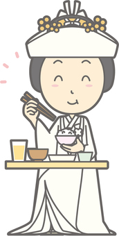 Horn horn - delicious Japanese food - whole body