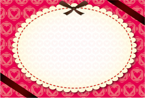 Girly Retro Heart Message Card
