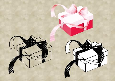 Ribbon Fluttering Present Box