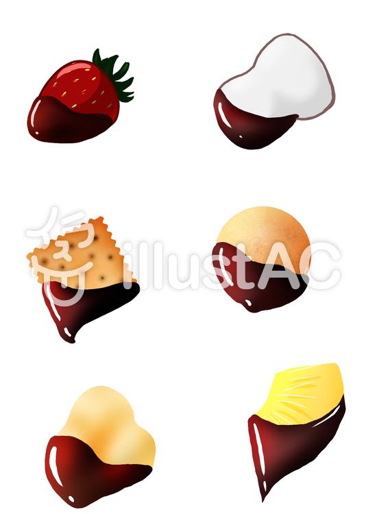 チョコフォンデュ素材用のイラスト