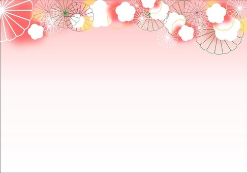 Plum and chrysanthemum