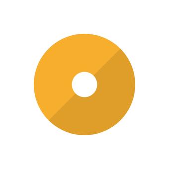 Illustration of plain donut