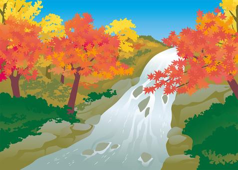 Background illustration on the river side