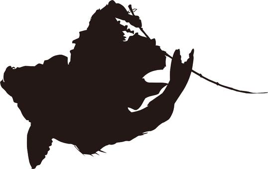 Ukiyo-e silhouette 343